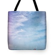 Vermont Summer Beach Boats Clouds Tote Bag