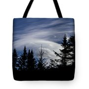 Vermont Tree Silhouette Clouds Cloudscape Tote Bag