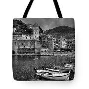 Vernazza - Cinque Terre In Grey Tote Bag