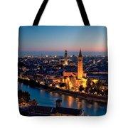 Verona At Sunset Tote Bag