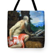 Veronese's Saint Jerome In The Wilderness Tote Bag