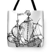 Verrazzano's Ship Tote Bag
