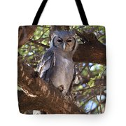 Verreauxs Eagle Owl In Tree Tote Bag