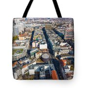 Vertical Aerial View Of Berlin Tote Bag