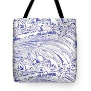 Vertical Panoramic Grunge Etching Royal Blue Color Tote Bag