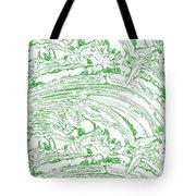 Vertical Panoramic Grunge Etching Sage Color Tote Bag