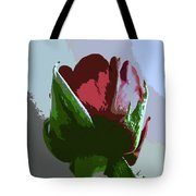 Vertical Rose Painting Style Tote Bag
