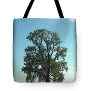 Vertical Tree Tote Bag