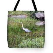 Very Hungry Blue Heron Tote Bag