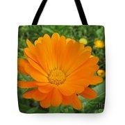 Very Lovely Orange Bloom Tote Bag