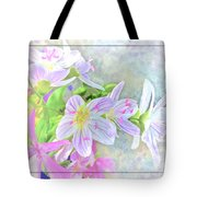 Very Tiny Wildflower Boquet Digital Paint Tote Bag