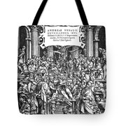 Vesalius Teaching Anatomy Tote Bag