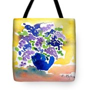 Vase With Lilas Flowers Tote Bag