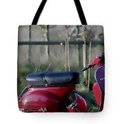 Vespa - Red Dream Tote Bag