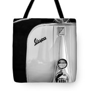 Vespa Scooter -0748bw Tote Bag