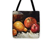 Vessel And Fruit Tote Bag