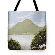 Vesuvius And Umbrella Pine Tree Tote Bag