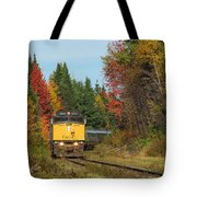 Fall Colours With Train Tote Bag
