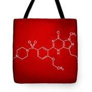 Viagra Molecular Structure Red Tote Bag