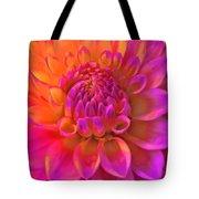Vibrant Dahlia Flower Tote Bag