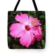 Vibrant Pink Hibiscus Tote Bag