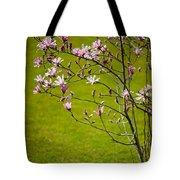 Vibrant Pink Magnolia Blossoms Tote Bag