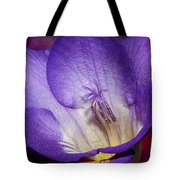Vibrant Purple Flower Tote Bag