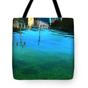 Vibrant Reflections -water - Blue Tote Bag