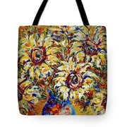 Vibrant Sunflower Essence Tote Bag