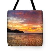 Vibrant Tropical Sunset Tote Bag