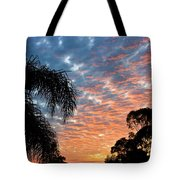 Vibrant Winter Sunset Tote Bag