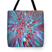 Vibrating Red And Blue Tote Bag