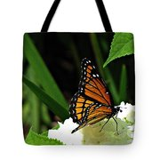 Viceroy On Hydrangea Tote Bag