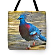 Victoria Crowned Pigeon In San Diego Zoo Safari In Escondido-california Tote Bag