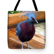 Victoria Crowned Pigeon Strutting Around Tote Bag