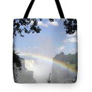 Victoria Falls Rainbow Tote Bag