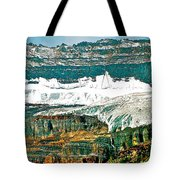 Victoria Glacier From Plain Of Six Glaciers Trail In Banff Np-ab Tote Bag