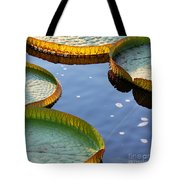 Victoria Waterlilies Tote Bag
