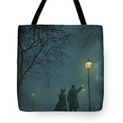 Victorian Couple At Night Tote Bag