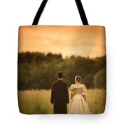 Victorian Couple In A Summer Meadow Tote Bag
