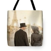 Victorian Couple In Paris Tote Bag