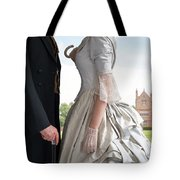 Victorian Couple In The Grounds Of A Country House Tote Bag