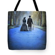 Victorian Couple In The Park At Dusk Tote Bag