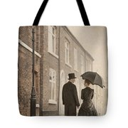 Victorian Couple On A Cobbled Street Tote Bag
