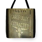 Victorian Dentist Sign Tote Bag