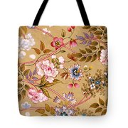 Victorian Floral Pattern Phone Case Tote Bag