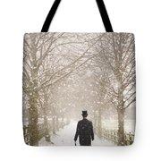 Victorian Gentleman In Snow Tote Bag