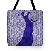Victorian Lady In Blue Tote Bag