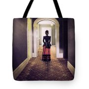 Victorian Lady In Hallway Tote Bag