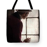 Victorian Man At A Window Tote Bag